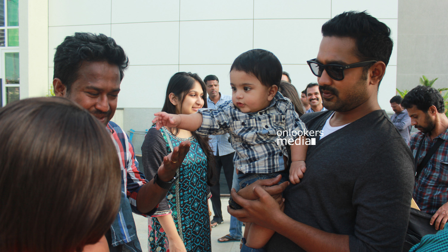 Asif Ali with family at You Too Brutus Loaction-Onlookers Media ...