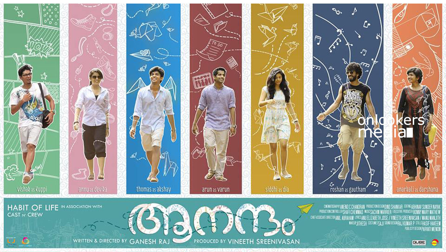 Anandam malayalam movie, Anandam posters stills photos, vineeth sreenivasan, malayalam movie  2016