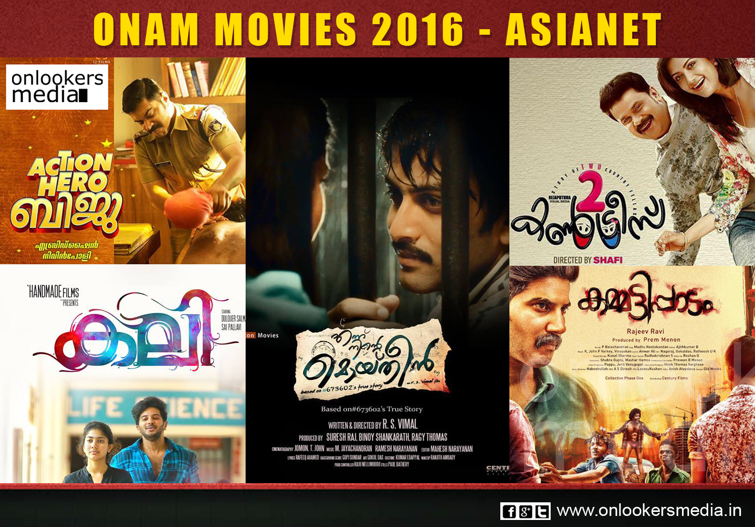 Onam 2016, Asianet, Surya TV, kasaba in tv, Surya TV onam movies 2016, asianet onam movies 2016
